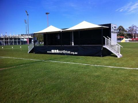 mobile stage available for hire